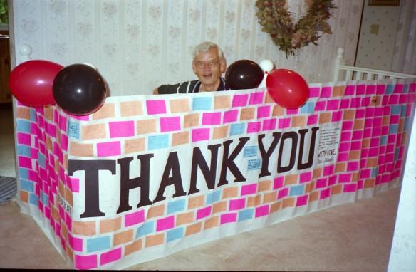 A big thank you, to Mr. Ratzlaff--a great teacher.